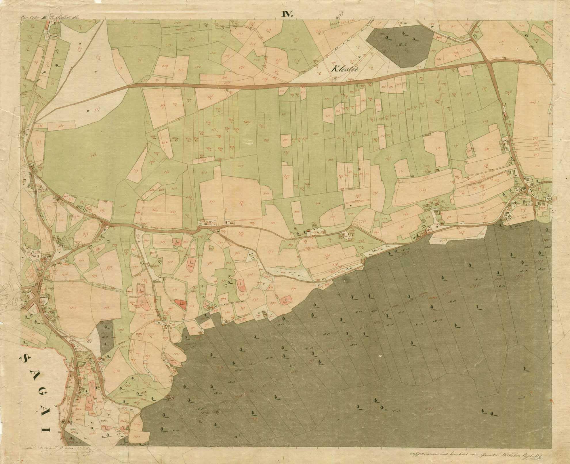 Kataster kraja Bistrica ob Sotli iz leta 1825.