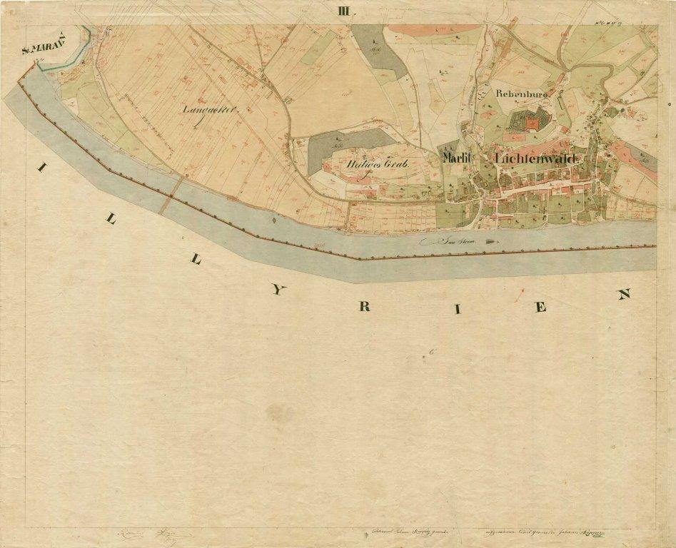 Kataster kraja Sevnica iz leta 1825.